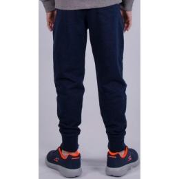 Спортивные штаны для мальчика (122-146) ,  темно-синий меланж, двухнитка -60% хлопок