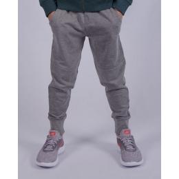 Спортивные штаны для мальчика (122-146) , серый меланж, двухнитка -60% хлопок