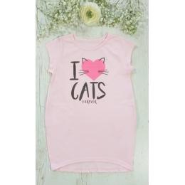 Платье I LOVE CATS супрем 100% хлопок