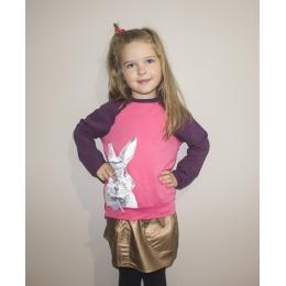 Кофта Robinzone Кролик с бантиком розовая