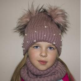 Зимняя шапка + снуд Талви Мила 50-54 см