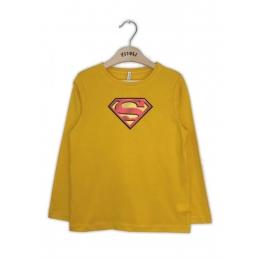 Футболка с длинным рукавом Супермен Желтый