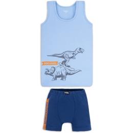 Комплект белья Габби Динозавры Голубой с синим