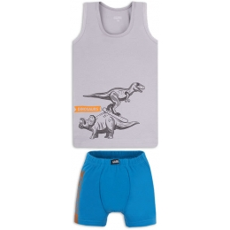 Комплект белья Габби Динозавры Серый с синим