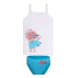 Детский комплект белья для девочки KTD-20-6