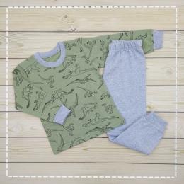 Пижама Кена Теплая Зеленый с серым
