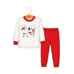 Пижама Robinzone Музыка Нового Года Красный с молочным