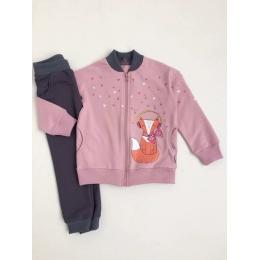 Костюм Robinzone Лисичка-меломан двухнитка 95%хлопок+5%лайкра розовый
