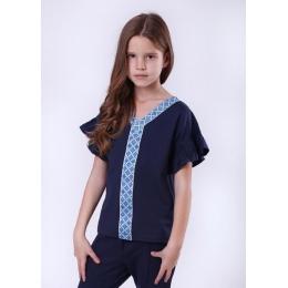 Блуза короткий рукав Vidoli Синий