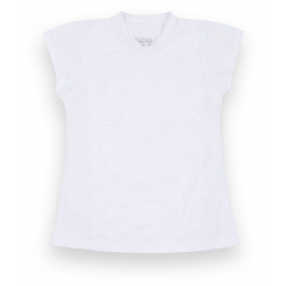 Блуза Габби Гипюр Белая