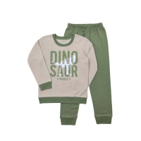 Пижама Кена Dinosaur Оливково-голубая