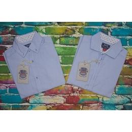 Рубашка для мальчика, светло- голубой, 100% хлопок