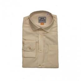 Рубашка классическая, длинный рукав, беж