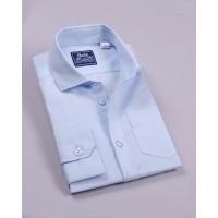 Рубашка классическая д/р 60% хлопок; голубой