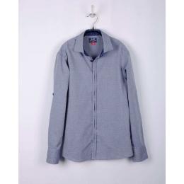 Рубашка BoGi casual Серо-голубая