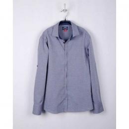 Рубашка BoGi casual Серо-синяя