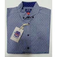 Рубашка BoGi casual Голубая в синий штрих
