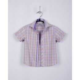 Рубашка BoGi casual Cиреневая клетка
